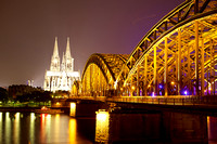 Stunning nighttime view of Cologne Cathedral